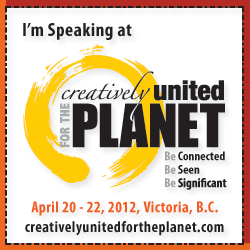 I'm speaking at Creatively United for the Planet Festival
