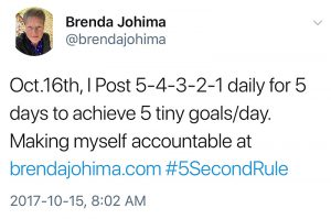 brenda johima tweet about the 5 second rule