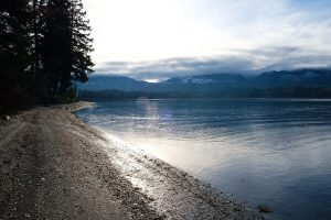rocky shell beach in Fanny Bay British Columbia